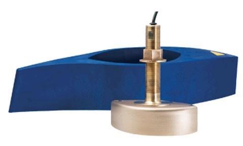 B258 bronze Through Hull Depth/Temp Transducer (MFD Connect)
