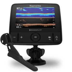 Dragonfly-7 Pro 7″ Sonar GPS with CHIRP DownVision & CPT-DVS Transom Mount Transducer, No Chart
