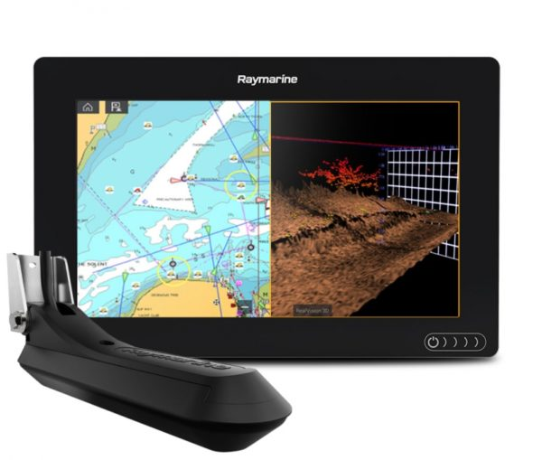 AXIOM 9 RV, Multi-function 9″ Display with  RealVision 3D, 600W Sonar with RV-100