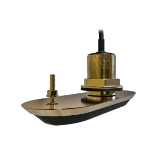 RV-212P RealVision 3D Bronze Through Hull Transducer Port 12°, Direct connect to AXIOM (2m cable)
