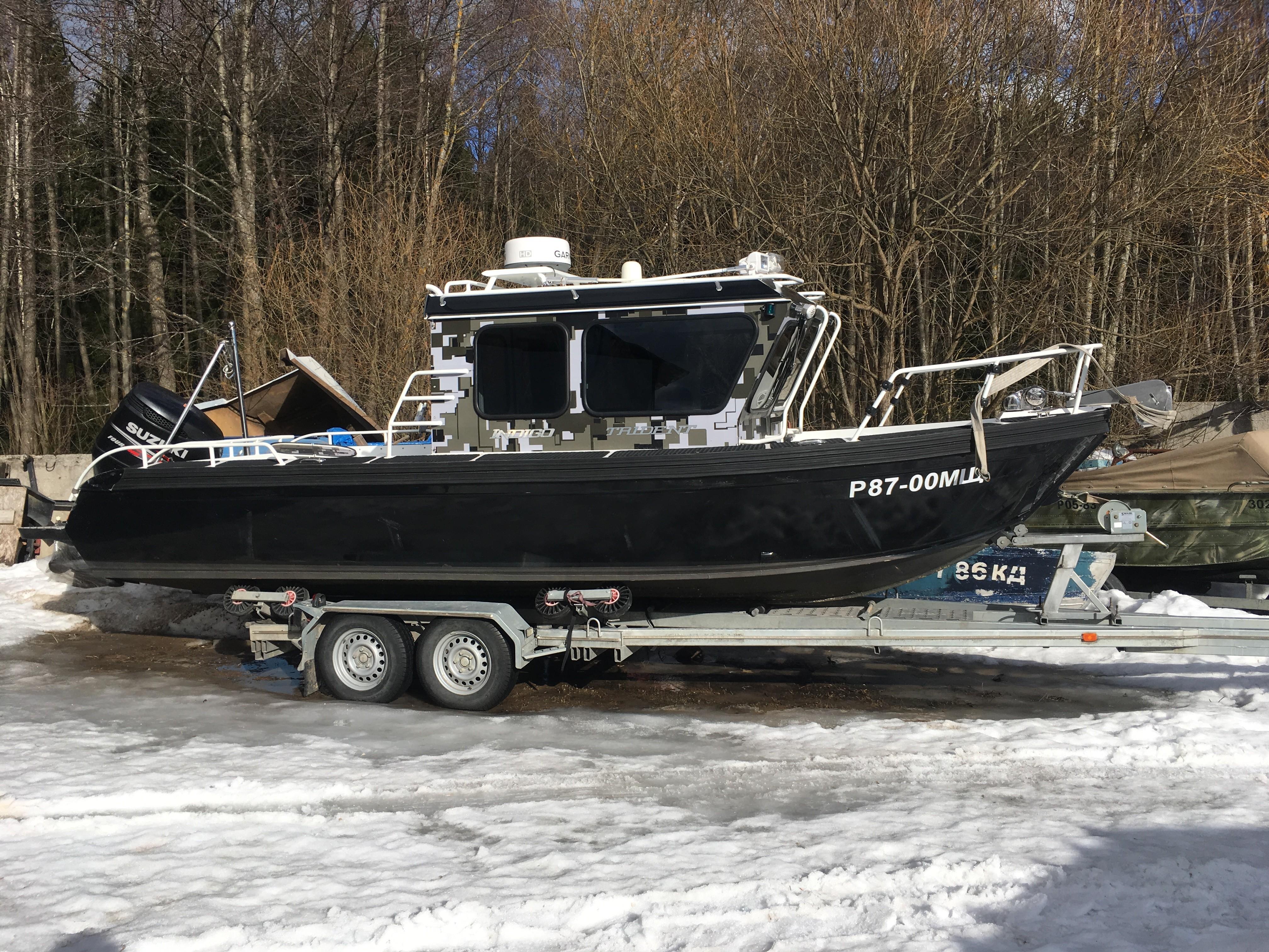 Моторная лодка Trident 720 CT Indigo